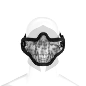 Invader Gear Steel Half Face Mask Death Head schwarz